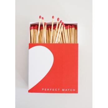 "Square matchbox ""Heart"""