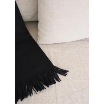 Black baby alpaga blanket