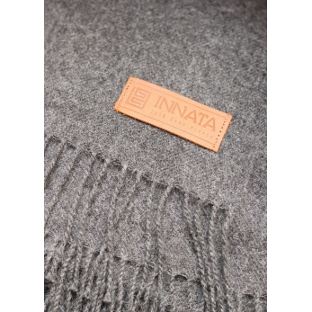 Dark grey baby alpaga blanket
