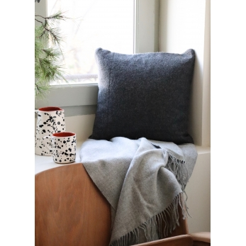 Light grey baby alpaga blanket