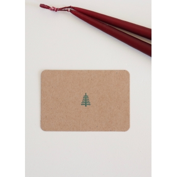 Mini carte postale + enveloppe Sapin