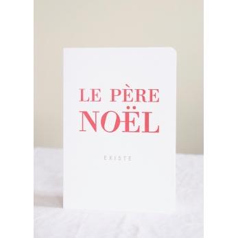 Carte postale + enveloppe Le père Noel existe
