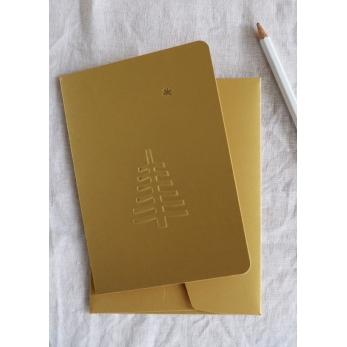 Carte postale gaufrée + enveloppe Sapin