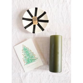 Carte postale + enveloppe Sapin vert