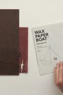 Wax paper boat - cargo boat