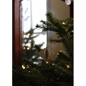 Row Christmas decoration in capiz - lantern
