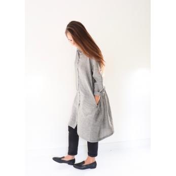 Robe-chemise, tissu fines rayures