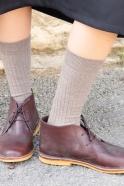 Chaussures Camargue, cuir café