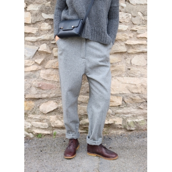 """Woman"" trousers, grey wool"