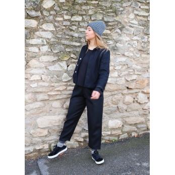 Pantalon classique, drap noir