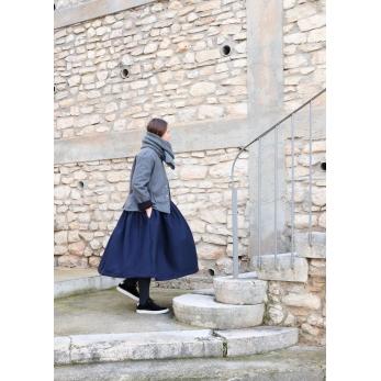 Veste tailleur, lainage gris