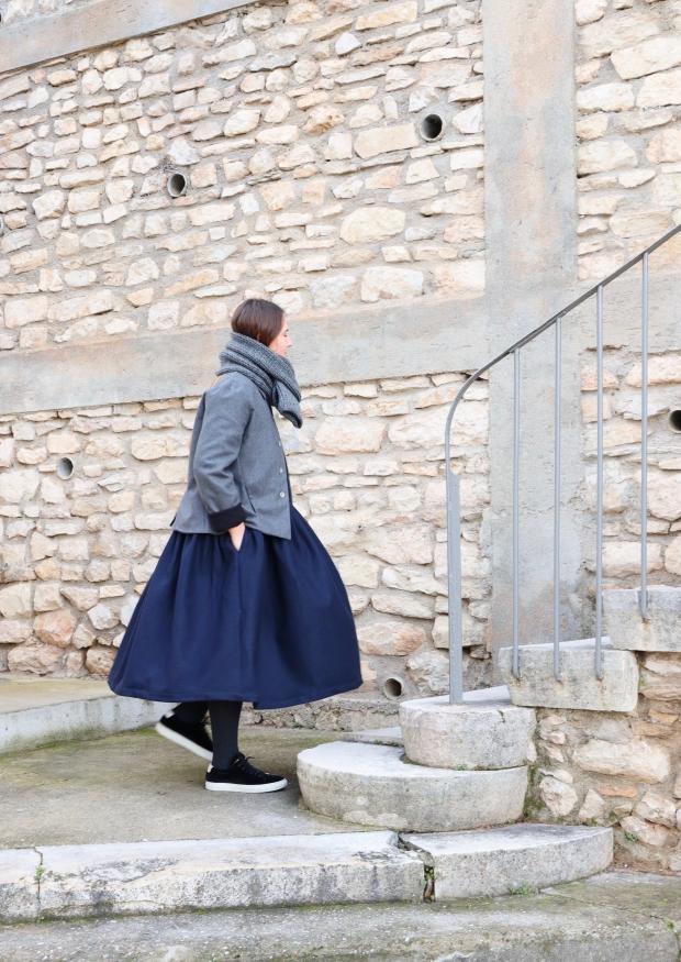 Tailor jacket, grey wool blend