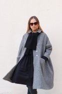 Claudine coat, herringbone wool drap