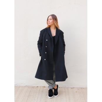 Manteau mixte, jean noir