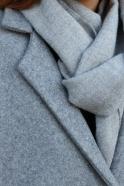 Echarpe en alpaga gris clair