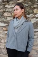 Light grey alpaga scarve
