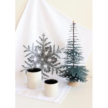 "Dish towel ""Snowflake"" white"