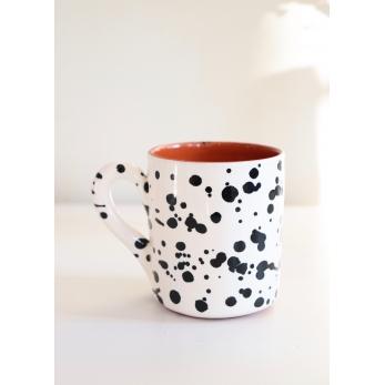 "Mug ""dots"" black"