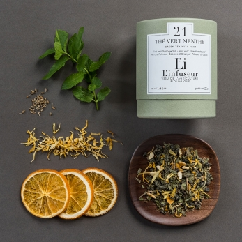 Organic green tea : Mint