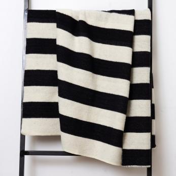 Striped XXL merino blanket