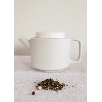 Matt grey tea pot