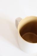 Matt grey and curry mug