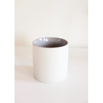 Matt grey coffe cup