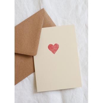 Carte postale Coeur rouge