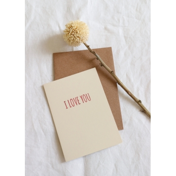 Card A6 + enveloppe I LOVE YOU