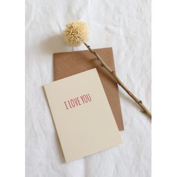 Carte postale I LOVE YOU