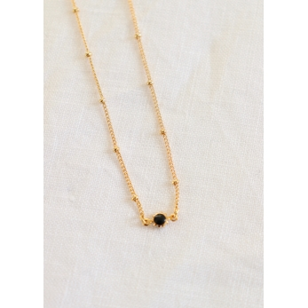 """Pearl"" necklace black"