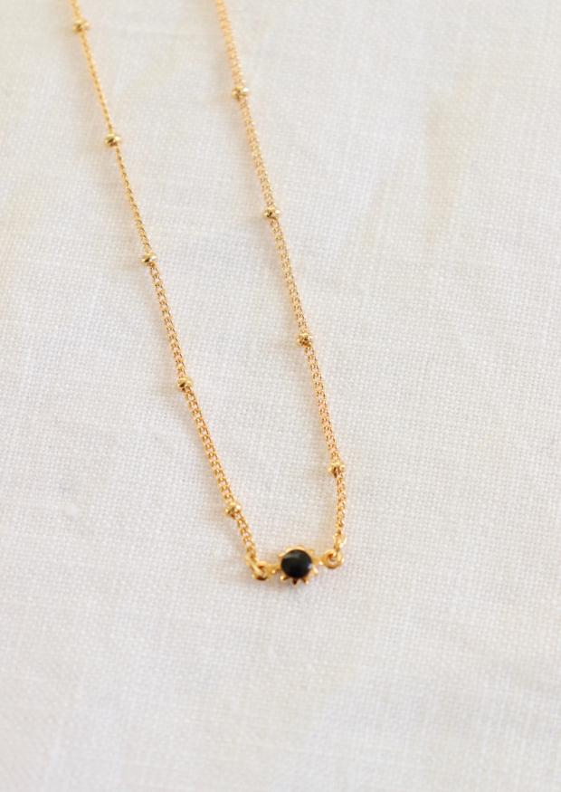 """Collier """"perle"""" noir"""