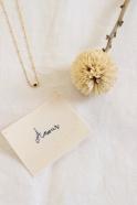 """Pearl"" necklace black"