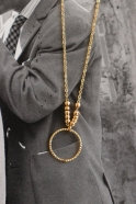 """""""Circle"""" necklace gold"""