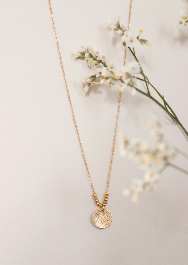 """Collier """"Coquillage"""" or"""