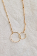 """""""Double circles"""" necklace gold"""