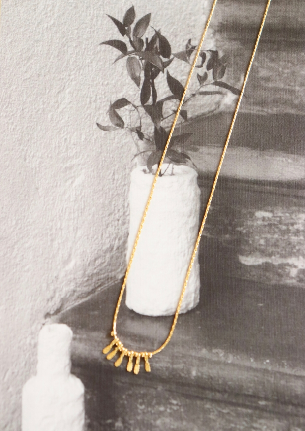 """""""pikes"""" necklace gold"""