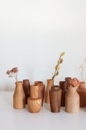 Turned wooden mini vase
