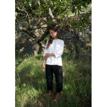 Pantalon 02, lin noir