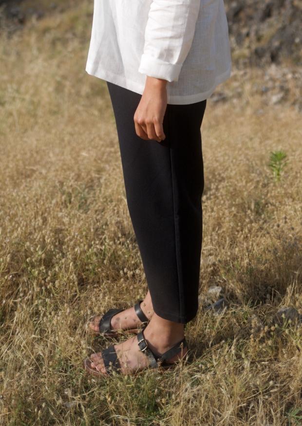 Classic trousers, black denim