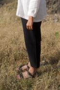 Pantalon classique, jean noir