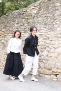 High waist trousers, white denim