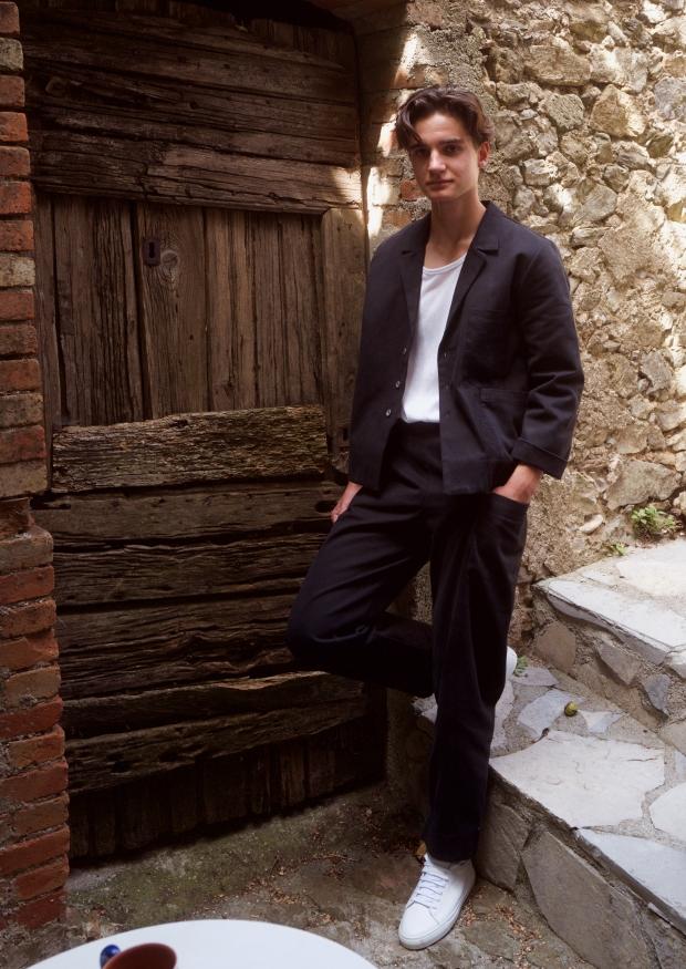 Pantalon été pour homme, jean noir
