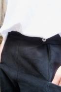Summer trousers for man, black denim