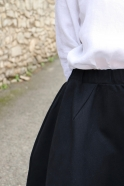 Long skirt, black denim