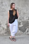 Blouse 05, black linen