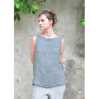 Blouse 05, lin gris