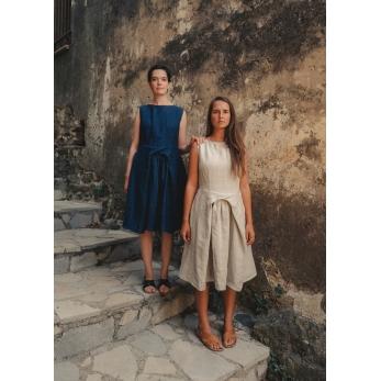 Dress 08, natural heavy linen
