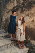Dress 08, indigo heavy linen