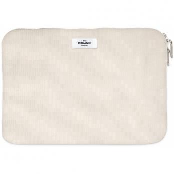 Laptop sleeve in stone corduroy